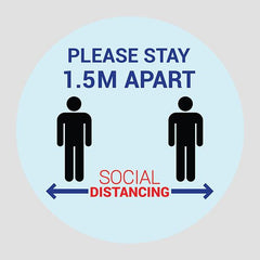 Sticker Social Distancing (Pack of 6 Stickers)