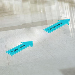 This Way Floor Stickers