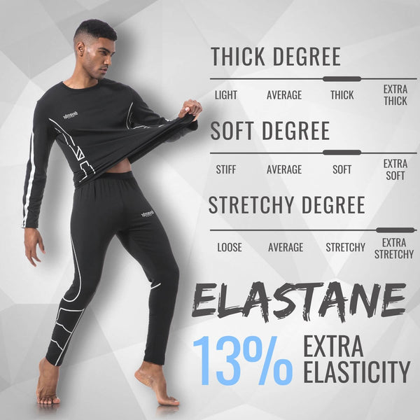Thermal Underwear For Man (Black)