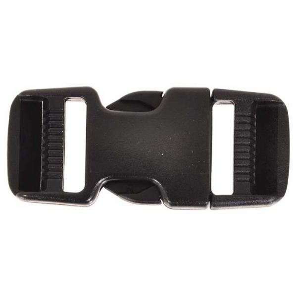 1.5-inch black plastic dual side release buckle