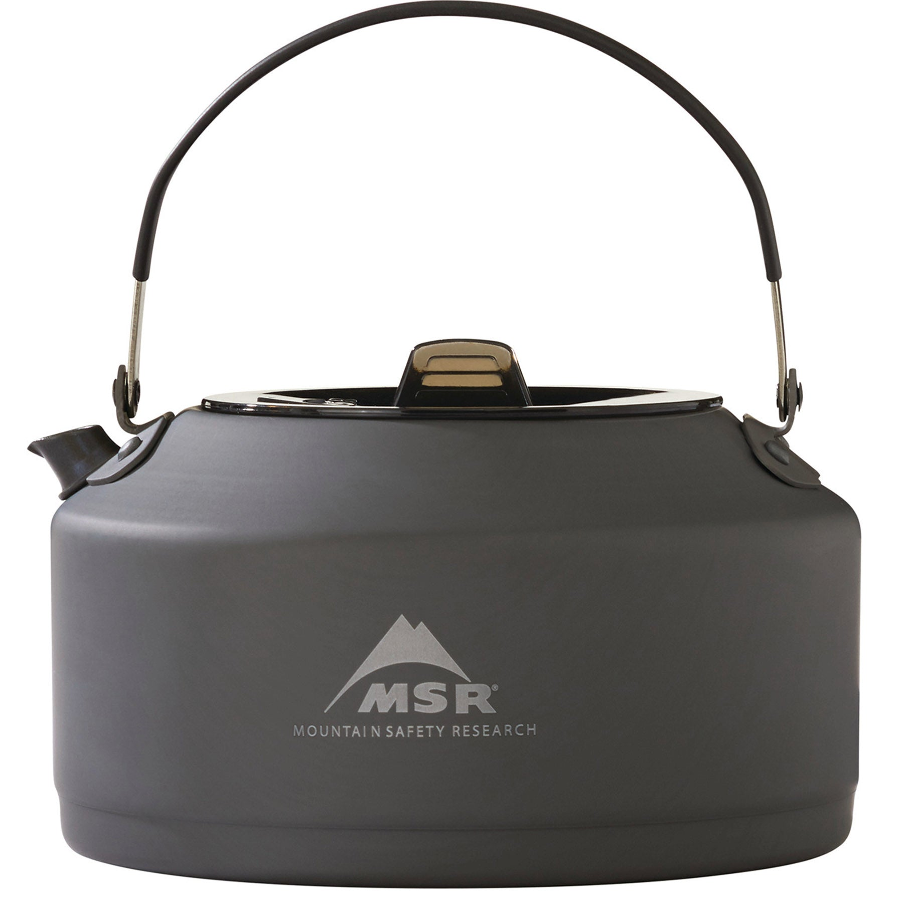 the msr pika pot, side view, handle up
