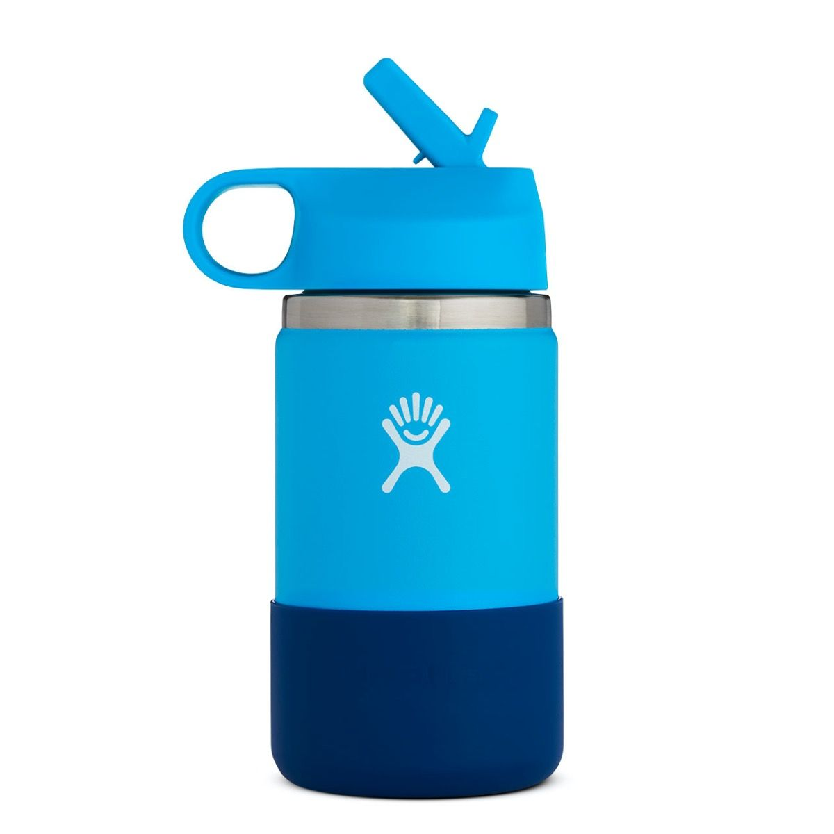 hydroflask 12oz wide mouth kid's bottle in pacific