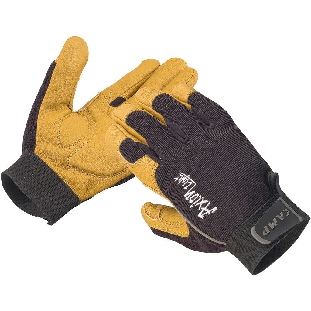 The pair of axion light belay gloves shows the front and back