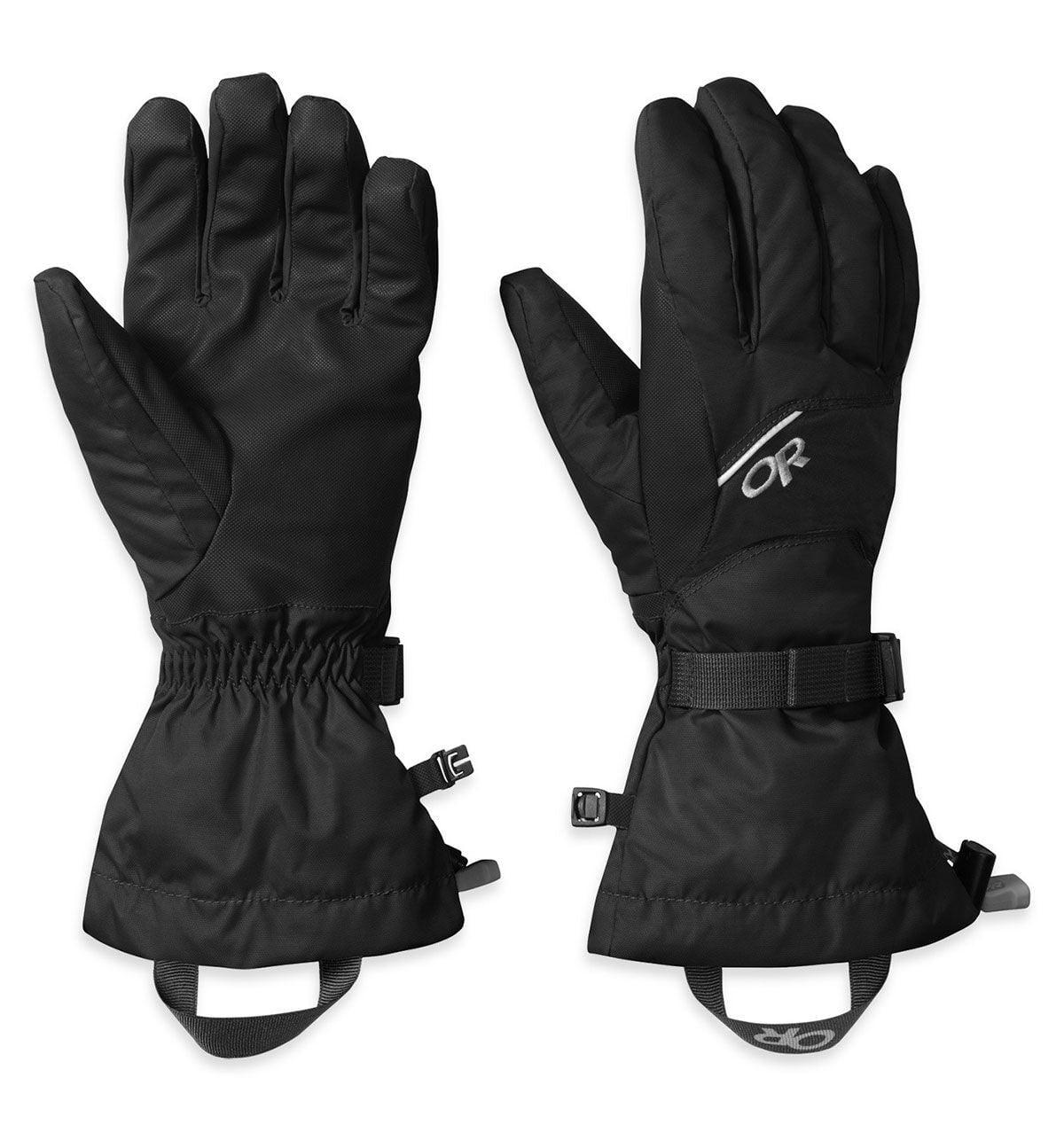a pair of adrenaline gloves in black from outdoor research