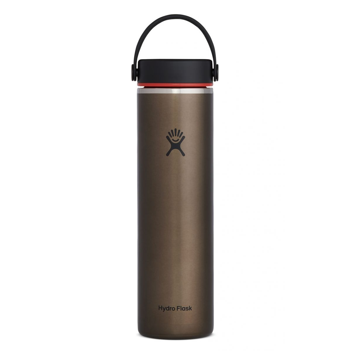 hydroflask 24 oz wide mouth lightweight trail series in obsidian