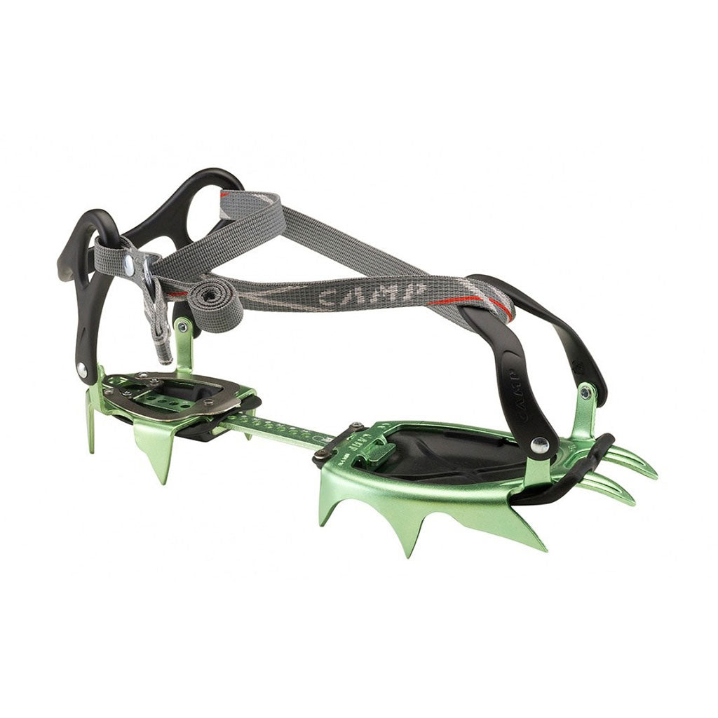 the xlc 490 universal crampon pictured as a single