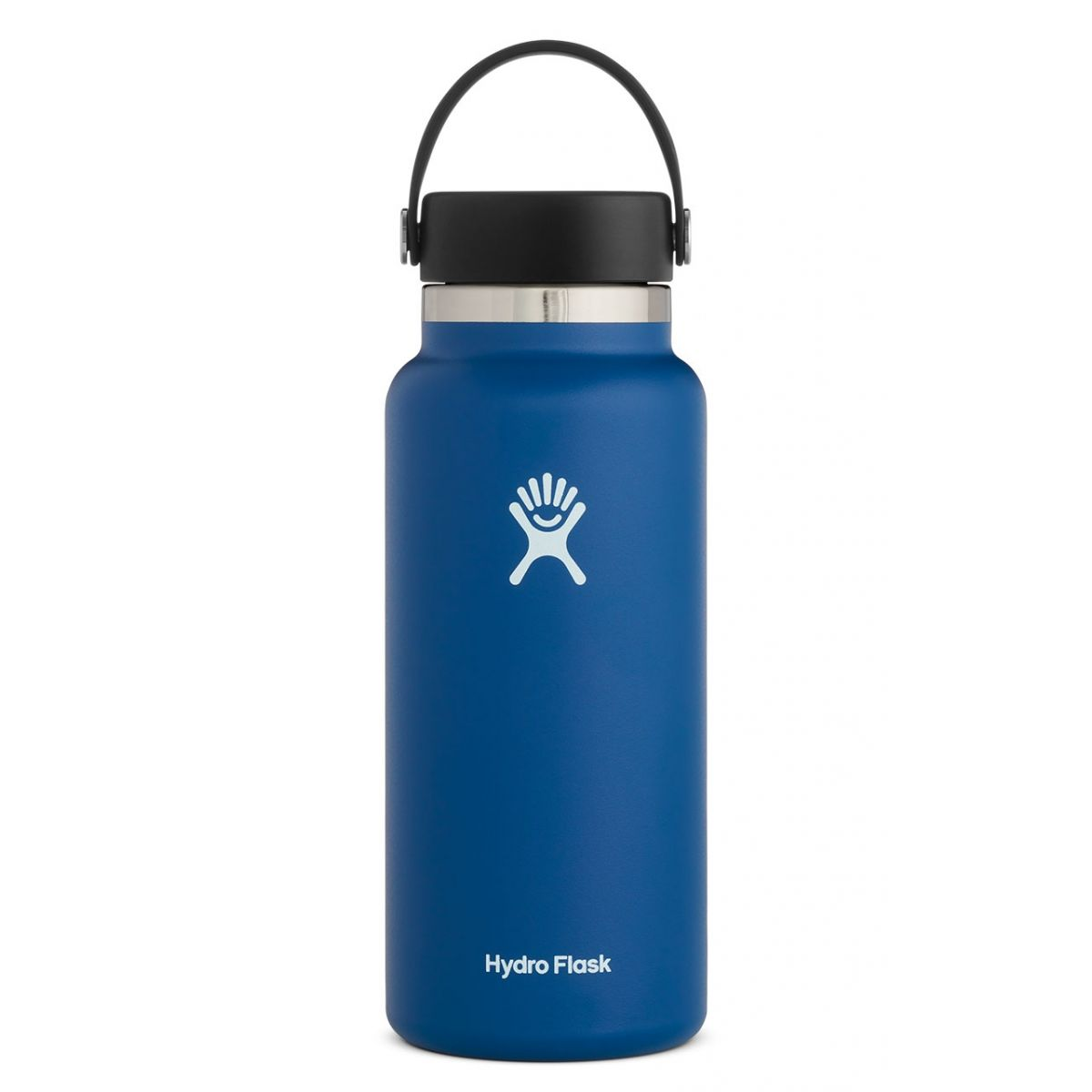 hydroflask 32 oz wide mouth bottle in cobalt