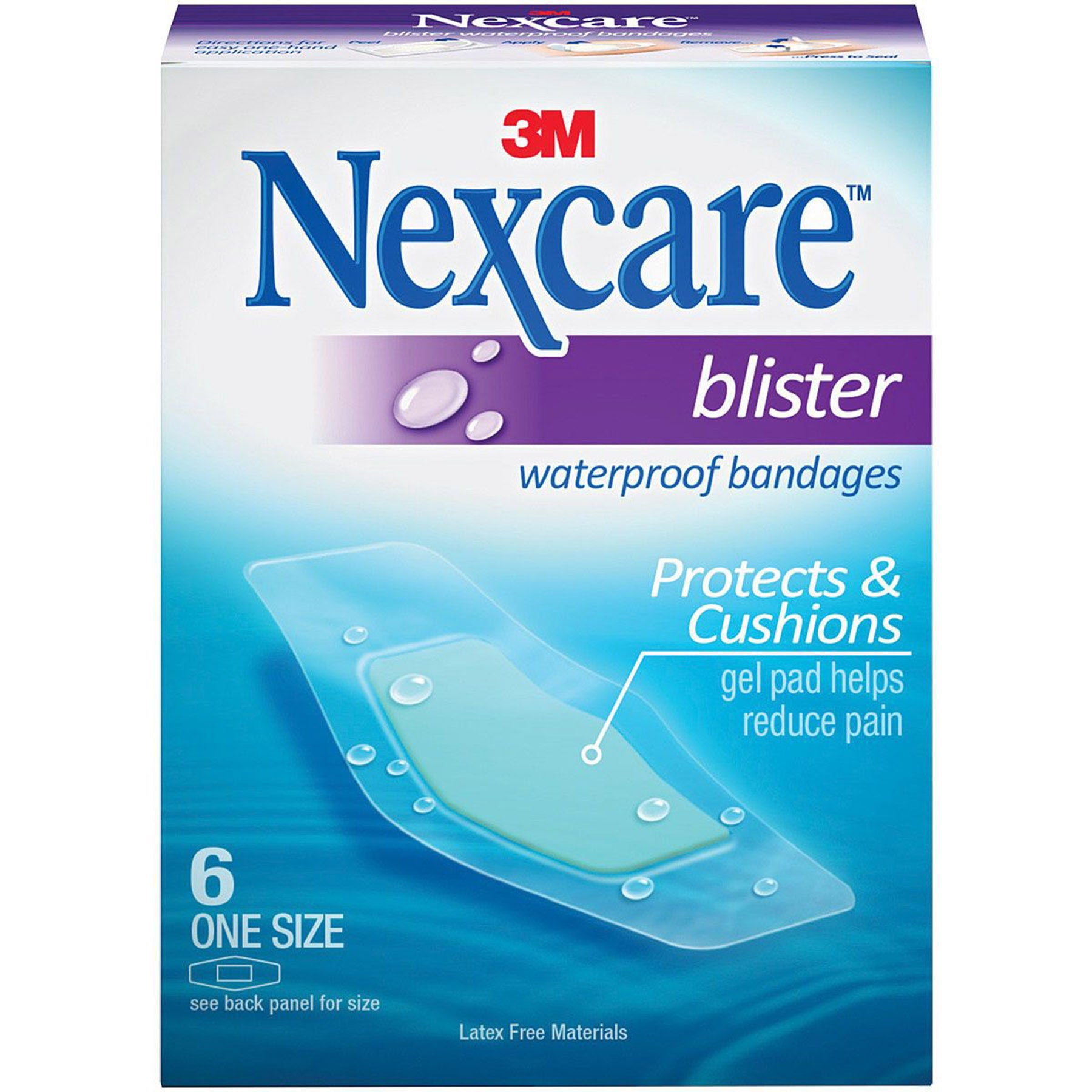 the box that nexcare blister bandages come in, showing a bandage