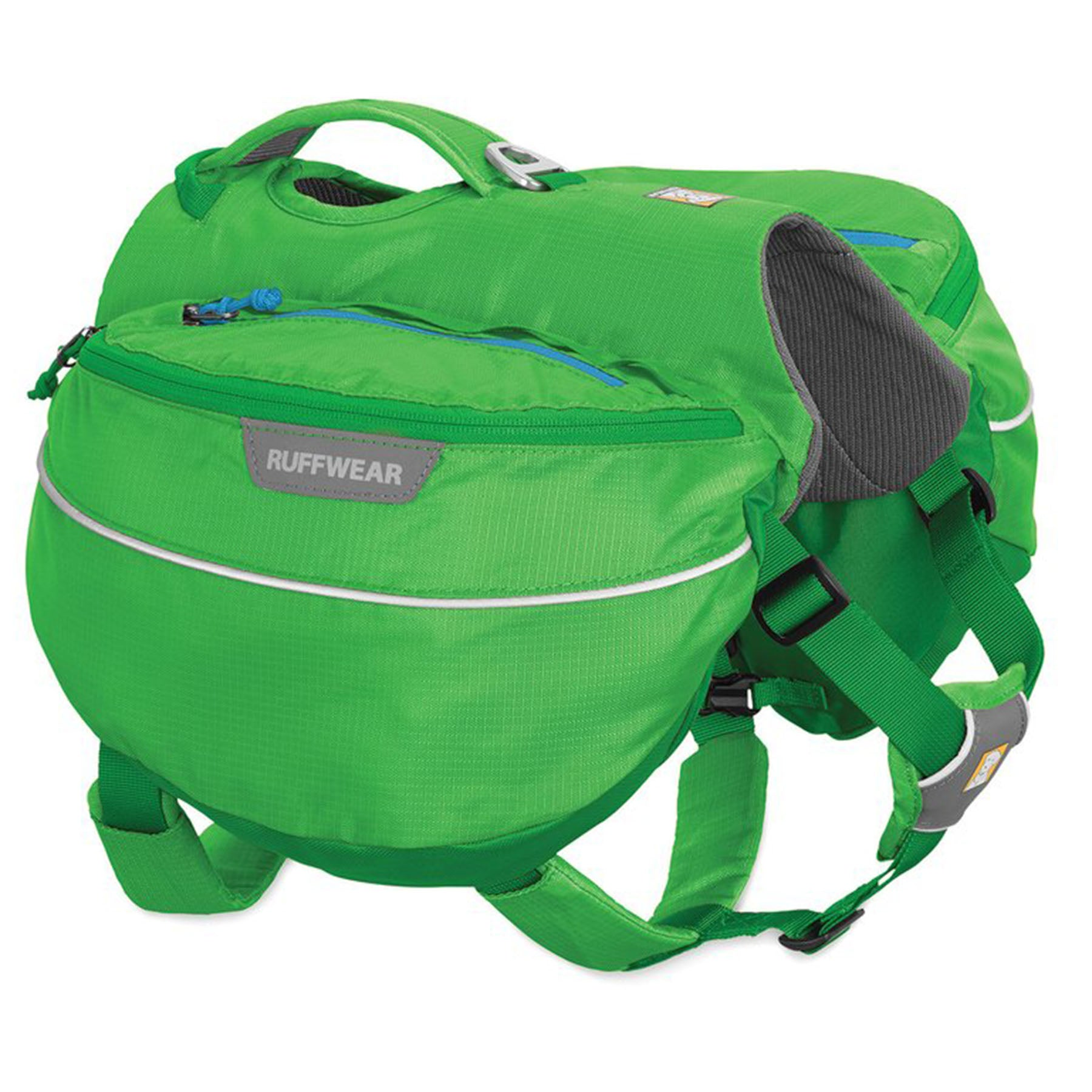 a photo of the Ruff wear approach dog pack in green