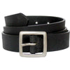 the bison designs classic leather belt in black
