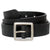 Bison standard leather belt, black, 38mm