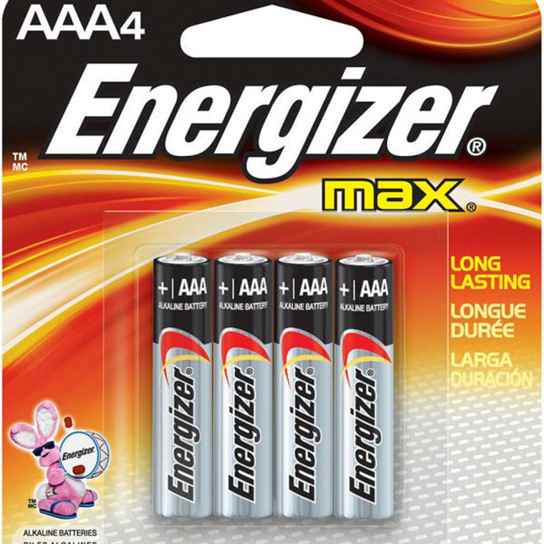 energizer AAA batteries 4-pack