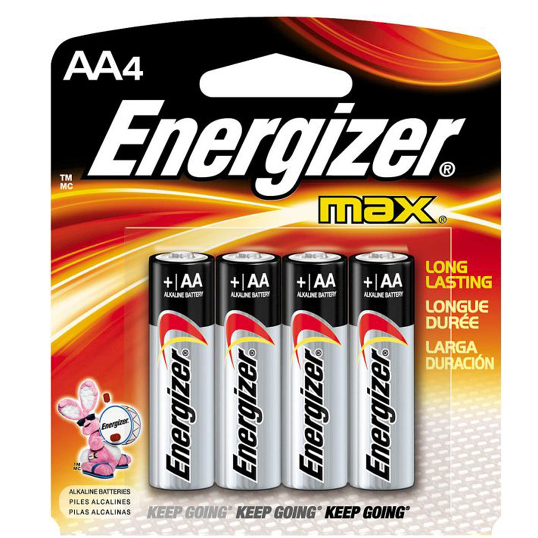 energizer AA batteries 4-pack