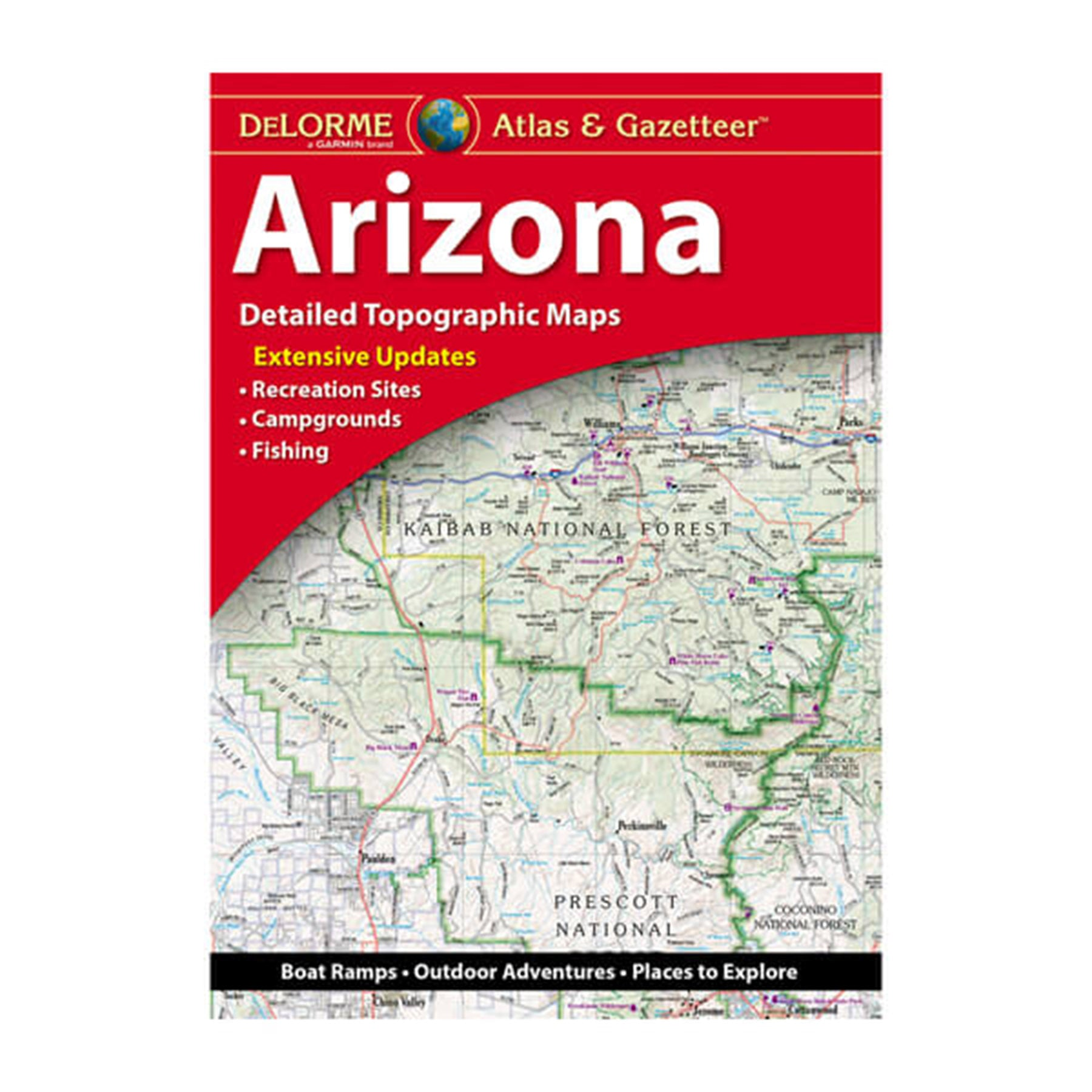 The cover of the Arizona Delorme atlas