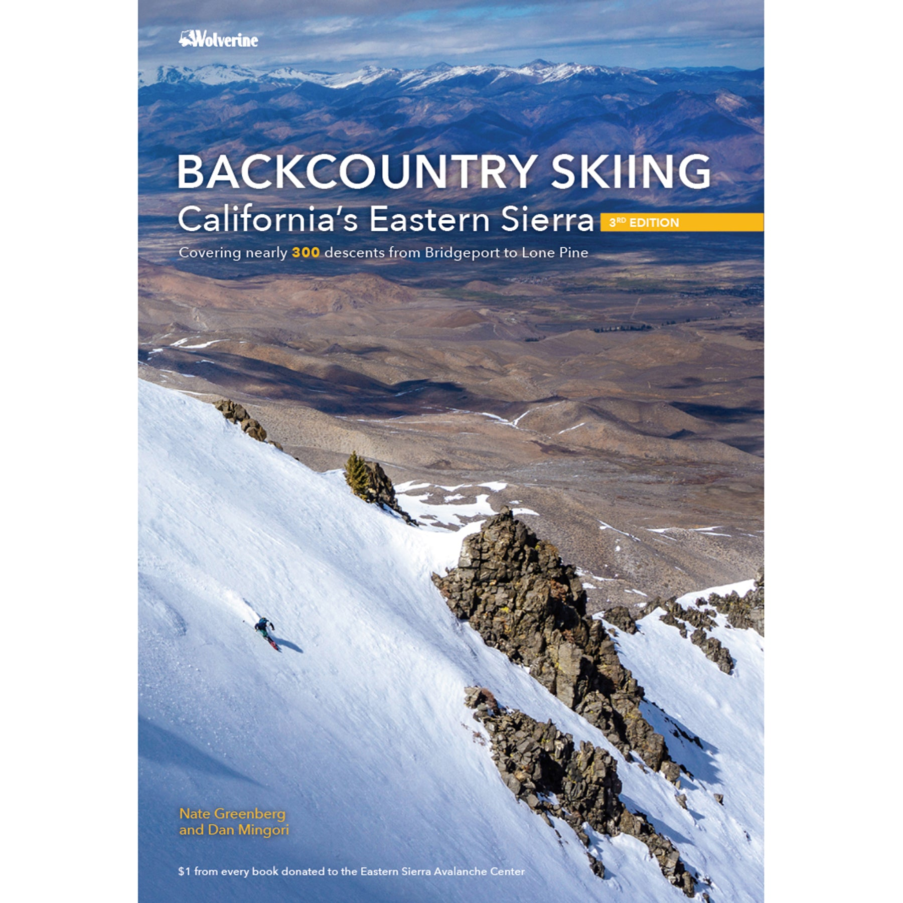 the cover of the backcountry skiing in the eastern sierra guidebook