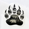 closeup of the bear paw sticker