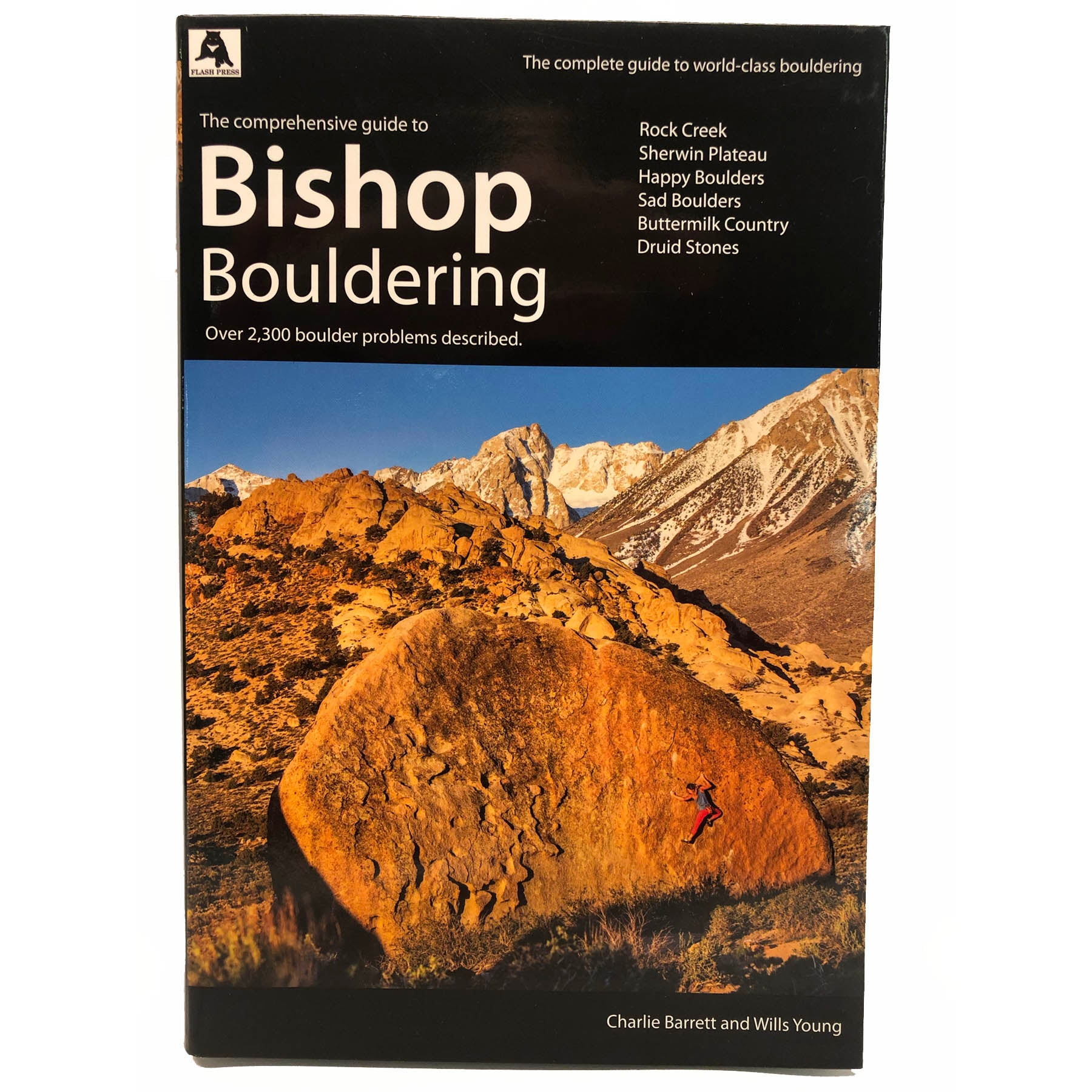 the cover of the bishop bouldering guidebook