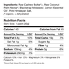 the nutrition facts panel, showing 140 calories per serving