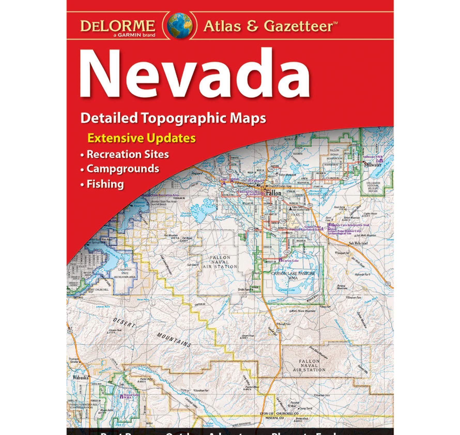 The cover of the nevada delorme atlas
