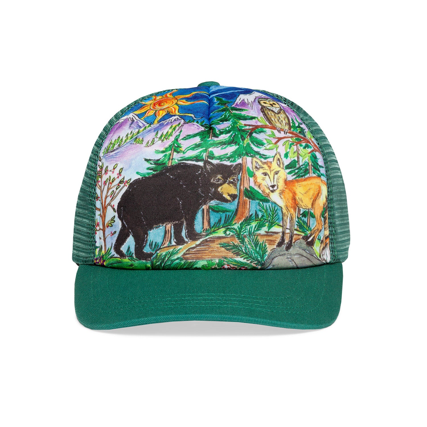 photo of sunday afternoons kid forest friends trucker hat