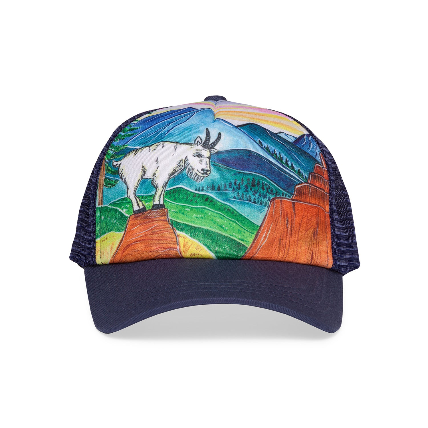 sunday afternoons kids' mountain goat trucker hat