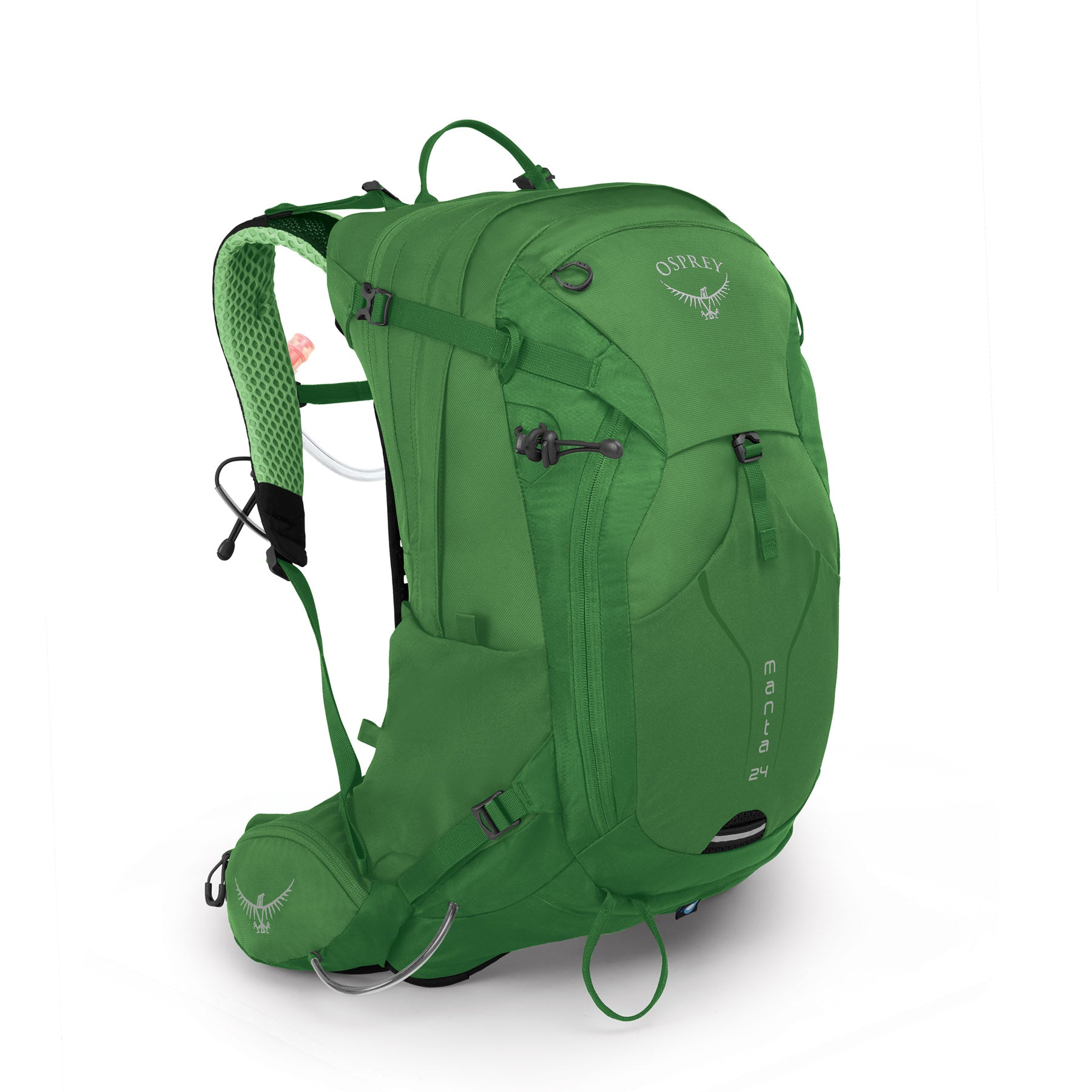 a green hydration pack