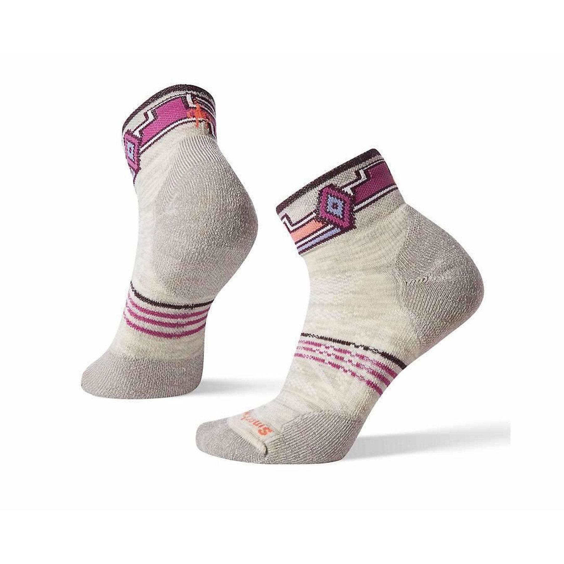 women's smartwool phd outdoor light pattern hiking mini socks in ash