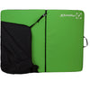 a photo of the metolius session II bouldering pad in green, open