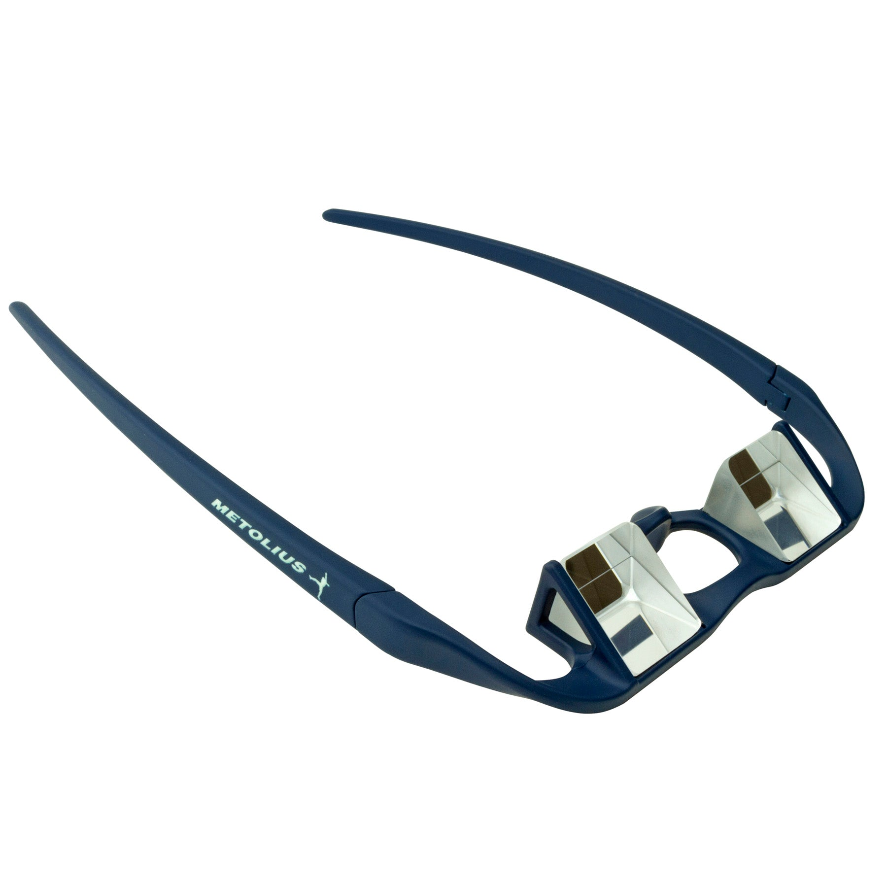 a photo of the metolius upshot belay glasses, in blue