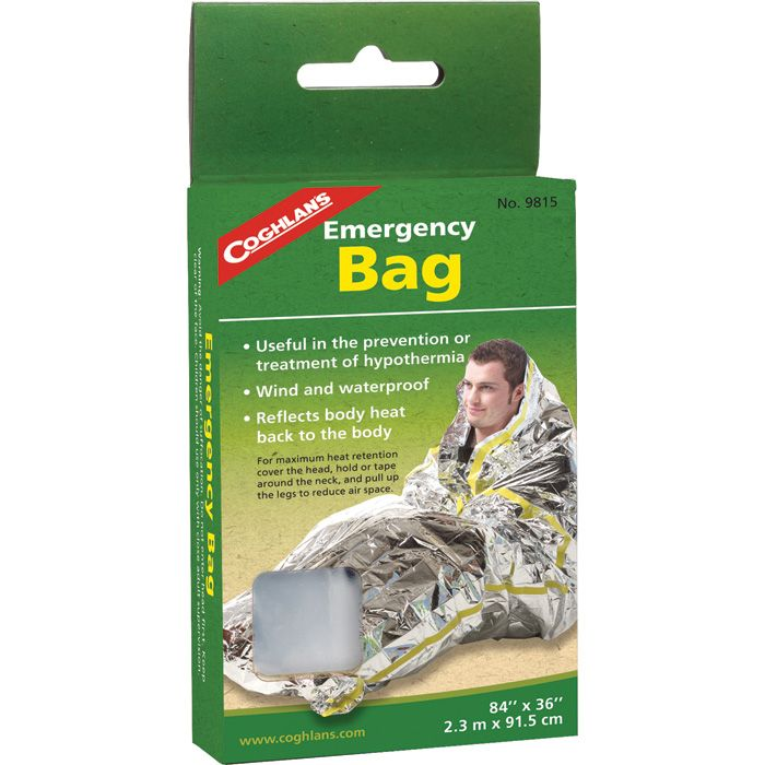 an emergency bag to protect from hypothermia