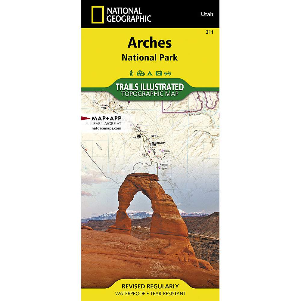 national geographic maps arches national park