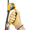 a photo of the petzl ascension ascender, left gold