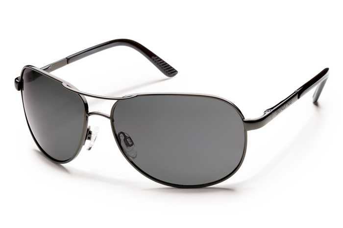 suncloud aviator sunglasses in gunmetal gray