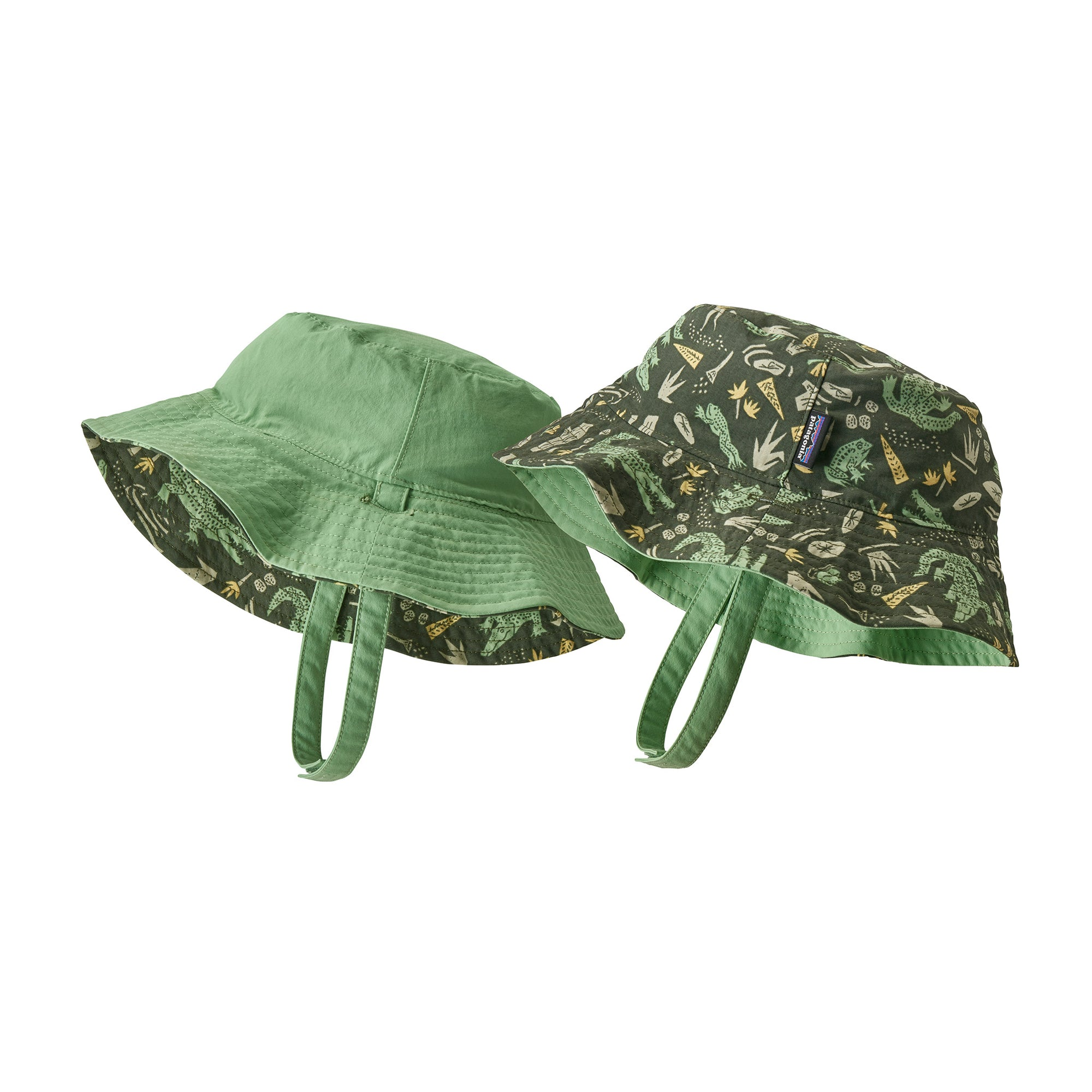 the alligators and bullfrogs version of the kids baby sun bucket hat