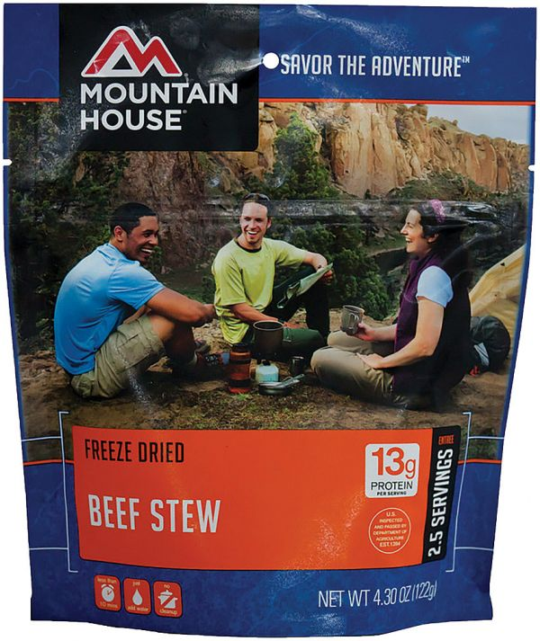 a packet of freeze dried beef stew