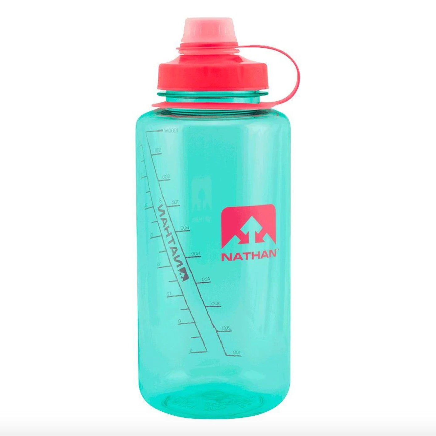 nathan bigshot 1L hydration bottle in blue light