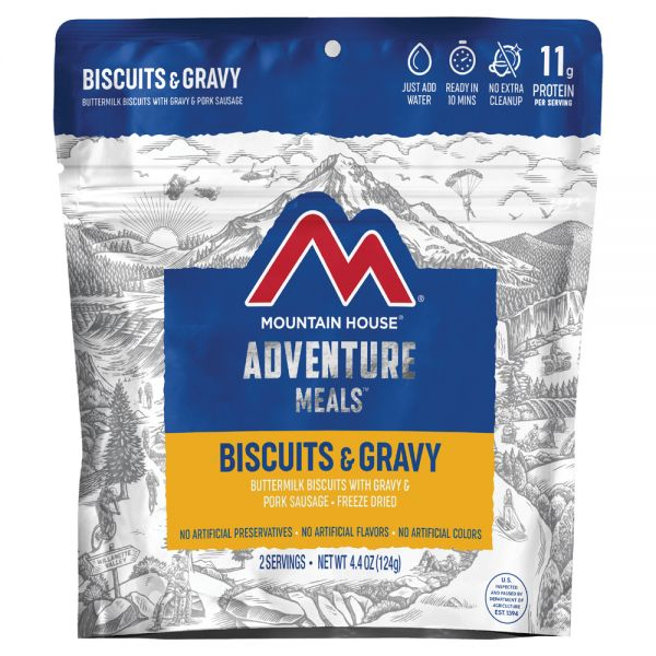 a packet of freeze dried biscuits and gravy