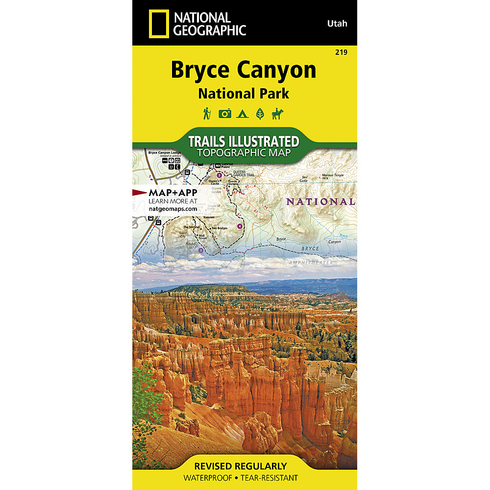 national geographic maps bryce canyon