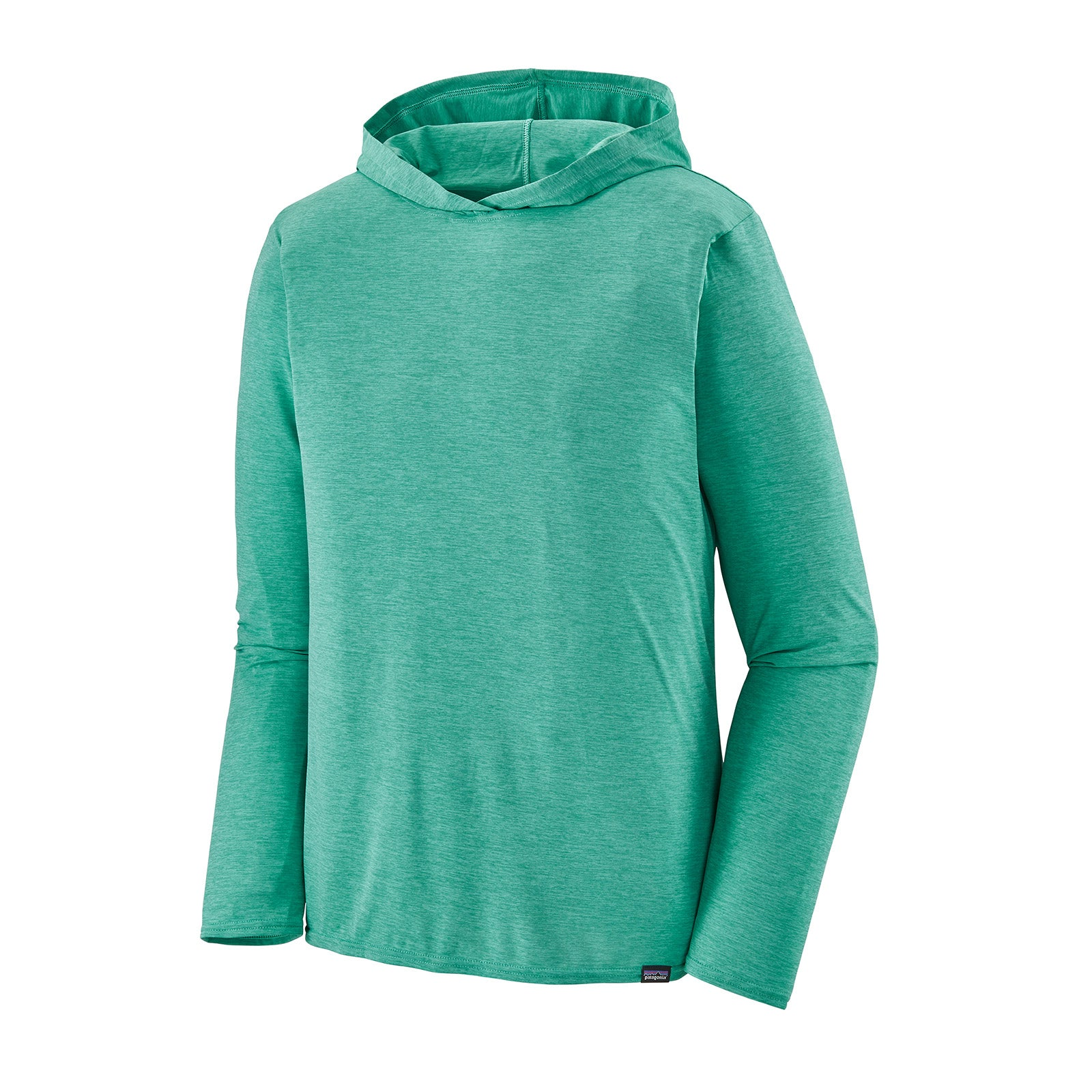 patagonia men's capilene cool daily hoody in light beryl green