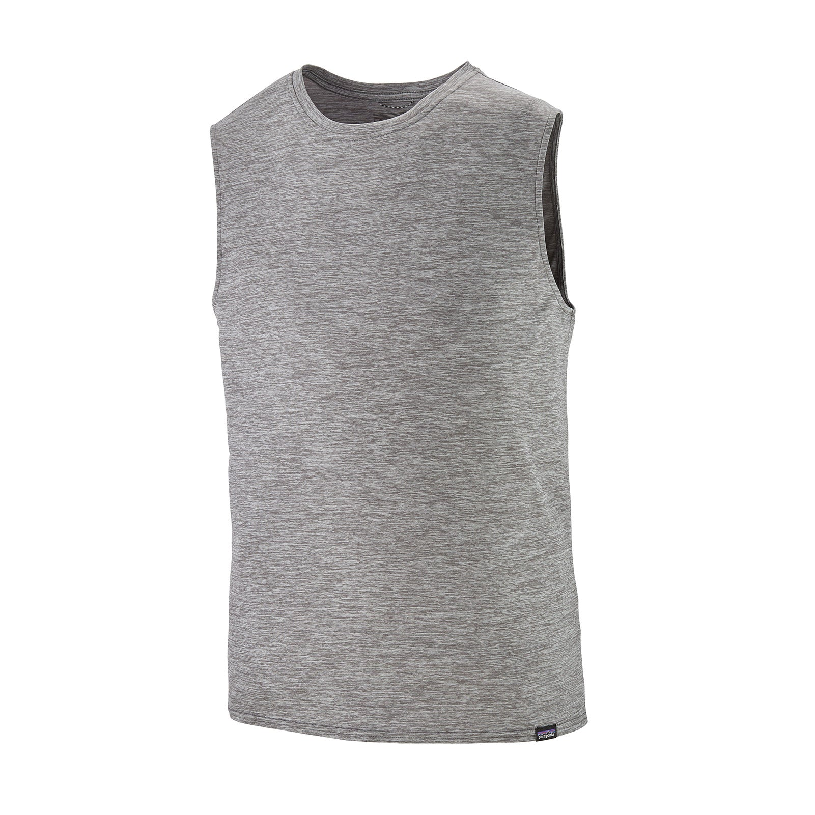 patagonia mens capilene cool daily tank in feather grey front view