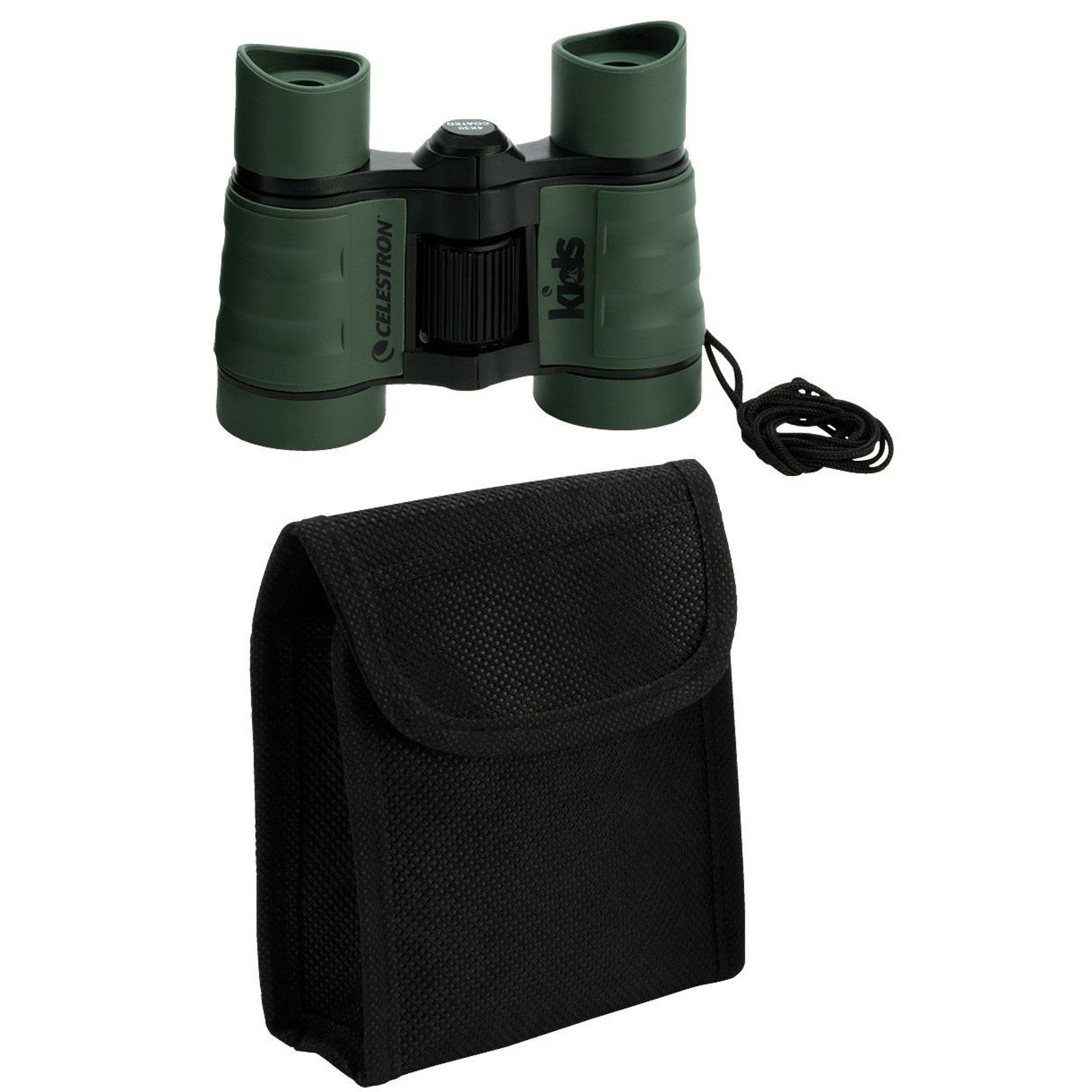 celestron kids binoculars, 4x magnification, 30mm lenses, age rated 6+