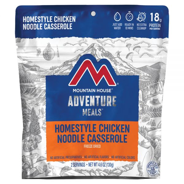 a packet of freeze dried chicken noodle casserole