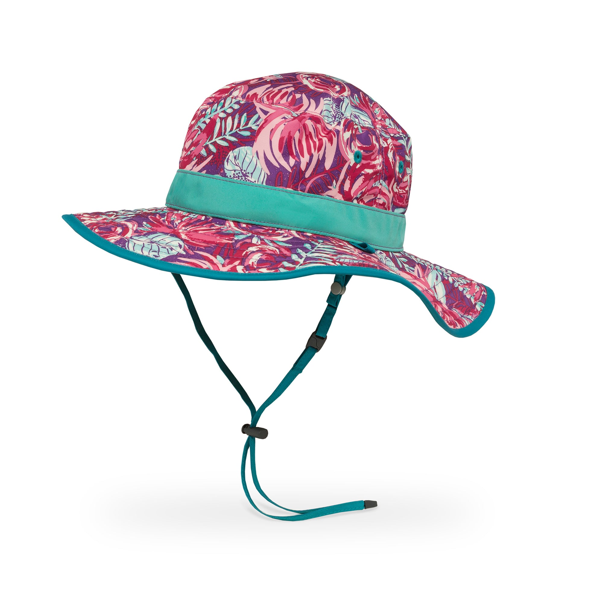 a photo of a sunday afternoon clear creek boonie kids hat in spring bliss/sea spray