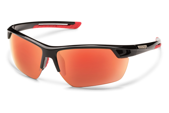 suncloud contender sunglasses black with red lenses