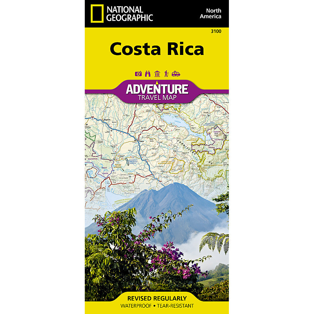 national geographic maps costa rica