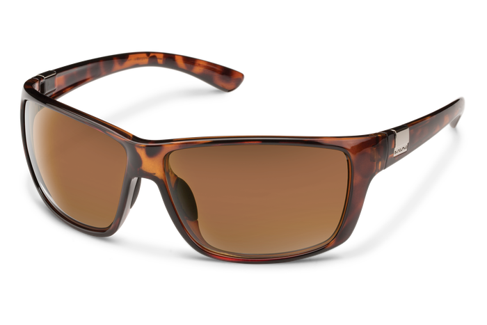 suncloud councilman sunglasses in tortoise with brown polarized lenses