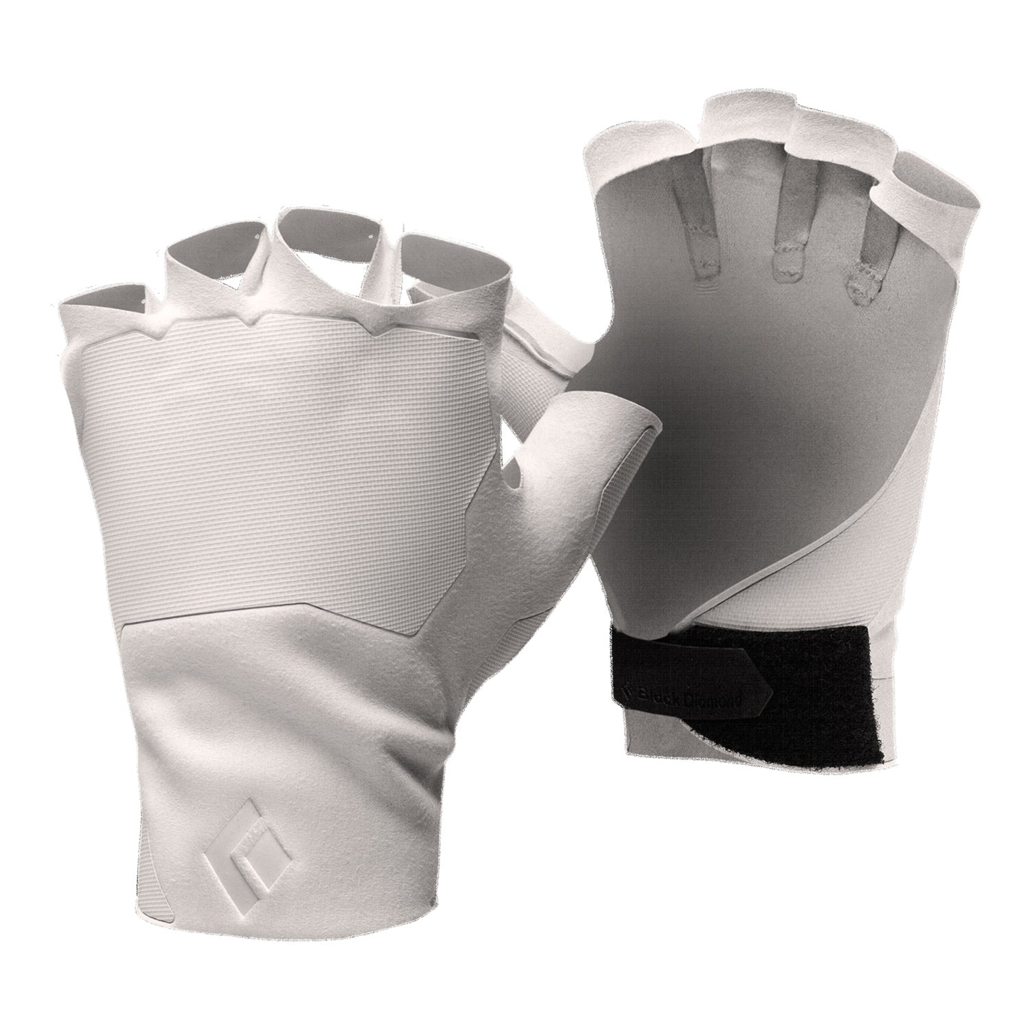 black diamond crack climbing gloves in white