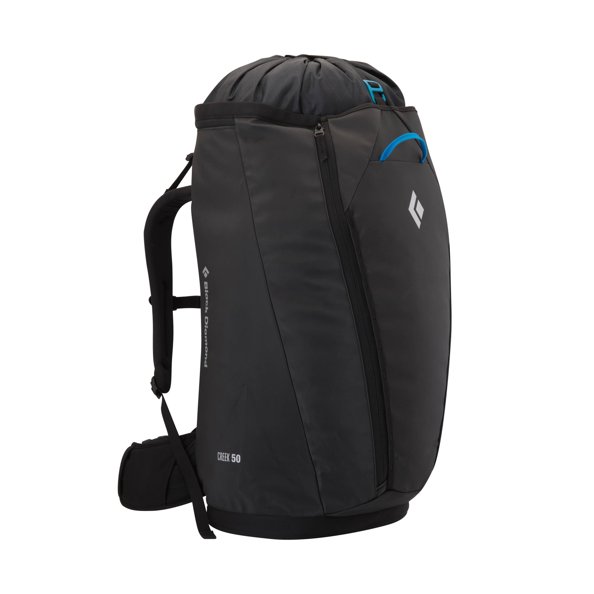 black diamond creek pack 50l, front view