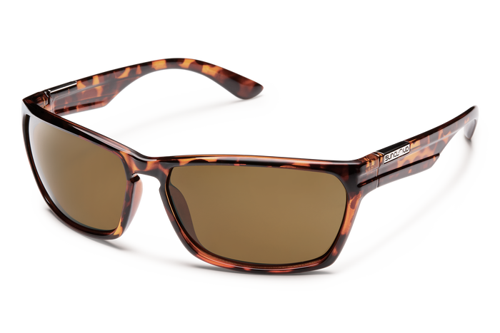 suncloud cutout sunglasses in tortoise with polarized brown lenses