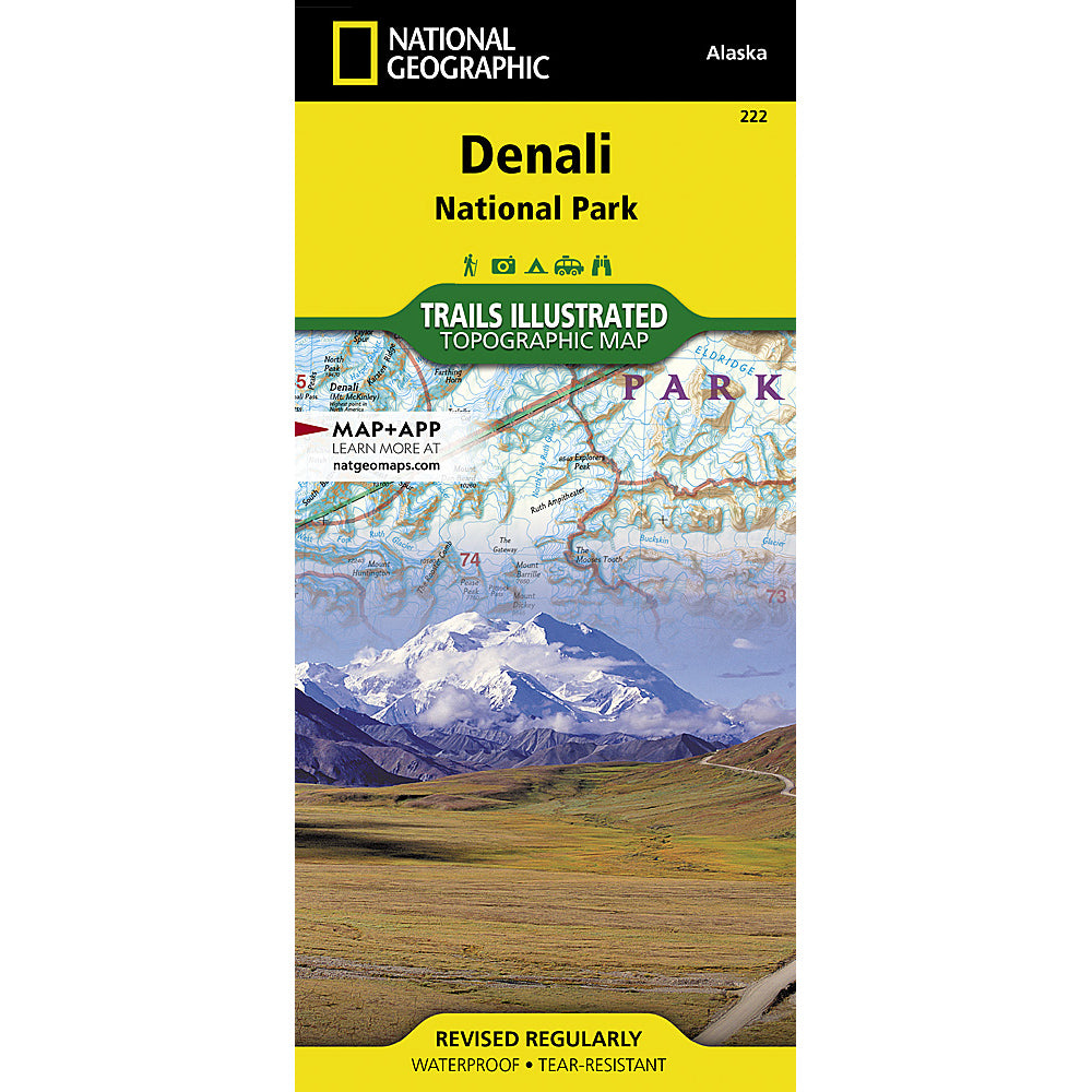national geographic maps denali